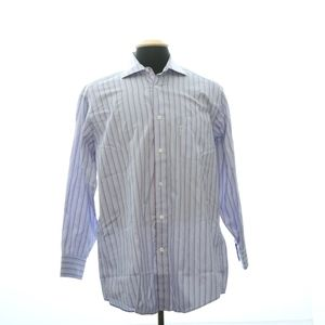 Faconnable Male Button Front Small Stripped Long S